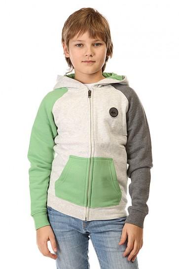 Толстовка классическая детская Quiksilver Magic Boat Youth Otlr Jadesheen, 1142451,  Quiksilver, цвет зеленый, серый