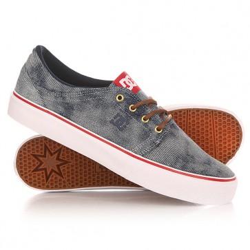 Кеды кроссовки низкие DC Trase Tx Se Indigo Bleached Vint, 1149601,  DC Shoes, цвет серый, синий