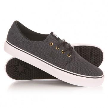 Кеды кроссовки низкие DC Trase Tx Se Black/Gunmetal/White, 1149609,  DC Shoes, цвет серый, черный