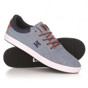Кеды кроссовки низкие DC Crisis Tx Dwi Indigo Dark Worn, 1152235,  DC Shoes, цвет голубой, коричневый, синий