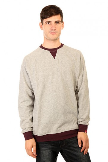 Толстовка свитшот DC Core Crew Flc Heather Grey, 1156772,  DC Shoes, цвет черный