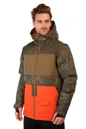 Куртка DC Downhill Camo Lodge, 1131063,  DC Shoes, цвет зеленый, оранжевый