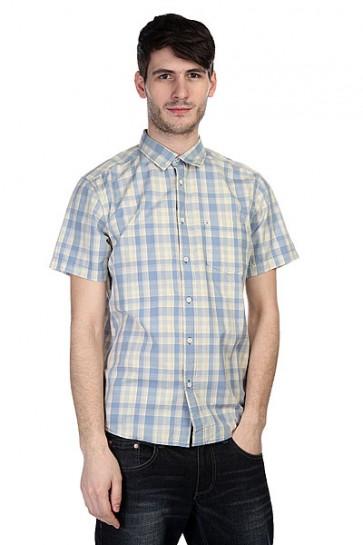 Рубашка в клетку Quiksilver Helsby Wvtp Bjn2 Faded Denim, 1110133,  Quiksilver, цвет желтый, синий