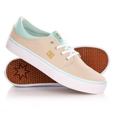Кеды кроссовки низкие женские DC Trase Tx Shoe Sand Dollar, 1142520,  DC Shoes, цвет бежевый, голубой