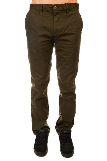 Штаны прямые DC Wrk Str Chino Ndpt Dark Olive, 1142603,  DC Shoes, цвет зеленый