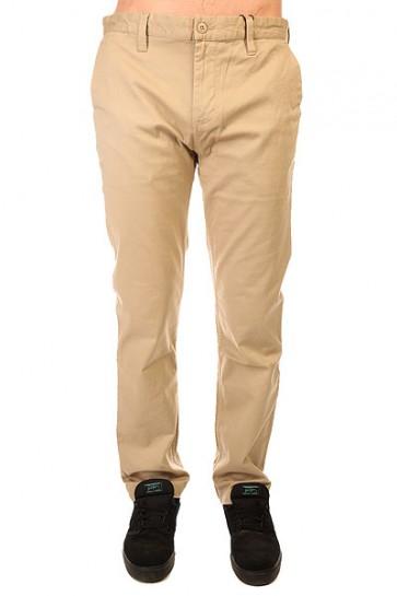 Штаны прямые DC Wrk Str Chino Ndpt Khaki, 1142604,  DC Shoes, цвет бежевый