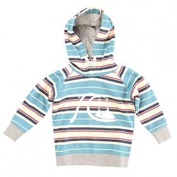 Толстовка классическая детская Quiksilver Soul Drive Hood K Otlr Niagara, 1142678,  Quiksilver, цвет белый, голубой