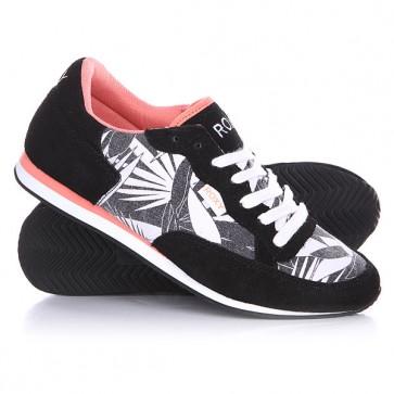 Кроссовки женские Roxy Run II Black, 1125014,  Roxy, цвет белый, черный