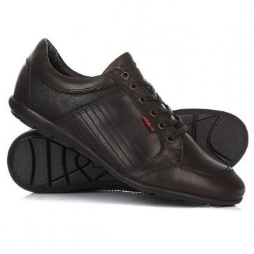 Кроссовки Levis Toulon Lace Dark Brown, 1156846,  Levis, цвет коричневый