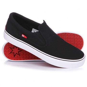 Слипоны DC Trase Slip-On TX Shoe Black/White, 1117753,  DC Shoes, цвет черный
