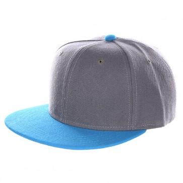 Бейсболка с прямым козырьком TrueSpin Tone Blank Snapback Magic, 1134569,  TrueSpin, цвет голубой, серый