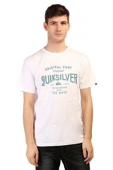 Футболка Quiksilver Claste Geeclaiit Tees White, 1139590,  Quiksilver, цвет белый