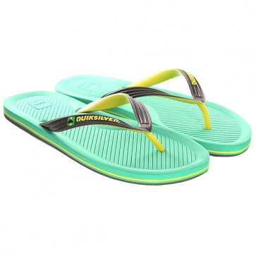 Вьетнамки Quiksilver Haleiwa Sndl Black/Green/Yellow, 1142801,  Quiksilver, цвет желтый, зеленый, черный