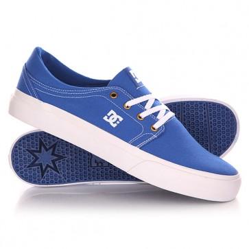 Кеды кроссовки низкие DC Trase Tx Shoe Blue/White, 1142866,  DC Shoes, цвет белый, синий