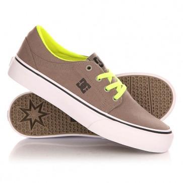 Кеды кроссовки низкие детские DC Trase Tx B Shoe Taupe, 1142871,  DC Shoes, цвет серый