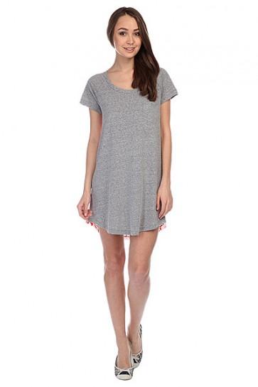 Платье женское Roxy Ben Weston J Heritage Heather, 1115620,  Roxy, цвет белый, красный, серый