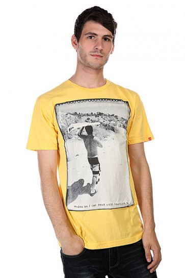 Футболка Lost Road Less Traveled Yellow, 1125485,  Lost, цвет желтый