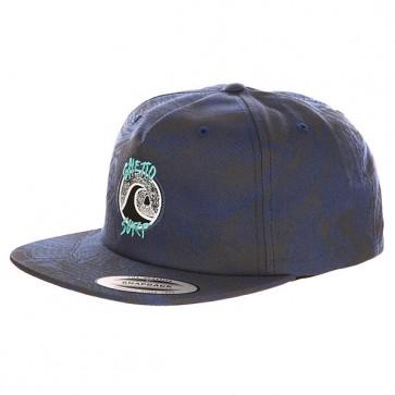 Бейсболка с прямым козырьком Quiksilver The Ghetto Dark Denim, 1139716,  Quiksilver, цвет серый, синий