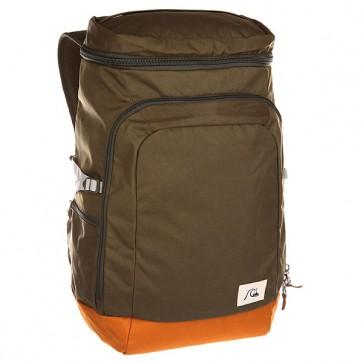 Рюкзак туристический Quiksilver Lodge Forest Night, 1139780,  Quiksilver, цвет зеленый, коричневый
