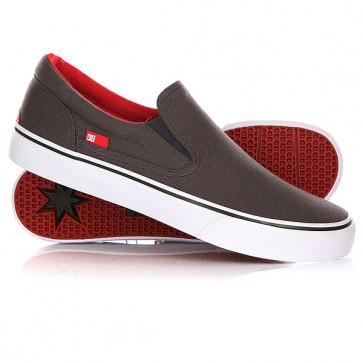 Слипоны DC Trase Slip-on TX Grey/Black/Red, 1146049,  DC Shoes, цвет серый