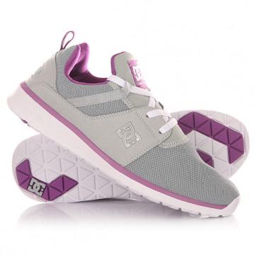 Кроссовки женские DC Heathrow Armor/Purple, 1148057,  DC Shoes, цвет серый, фиолетовый