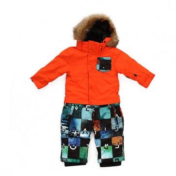 Комбинезон сноубордический детский Quiksilver Rookie Chakalapaki Origin, 1158657,  Quiksilver, цвет мультиколор, оранжевый