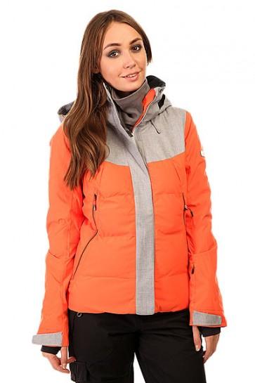 Куртка женская Roxy Flicker Jk Nasturtium BIOTHERM, 1131804,  Roxy, цвет оранжевый, серый