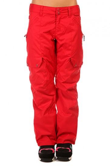 Штаны сноубордические женские DC Ace Pt J Snpt American Beauty, 1131814,  DC Shoes, цвет бордовый
