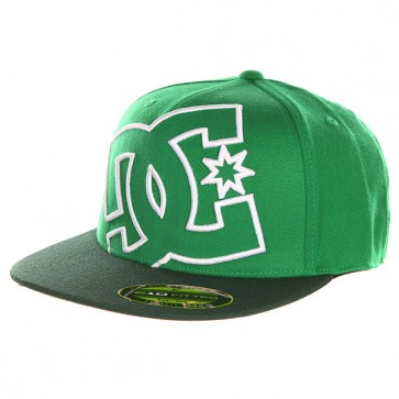 Бейсболка с прямым козырьком DC Ya Heard Celtic Green, 1143108,  DC Shoes, цвет зеленый