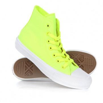 Кеды кроссовки высокие Converse Ct All Star II Hi Volt Volt Green, 1153025,  Converse, цвет желтый