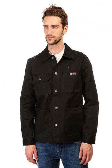Куртка джинсовая DC Front Snap Jckt Black, 1143135,  DC Shoes, цвет черный