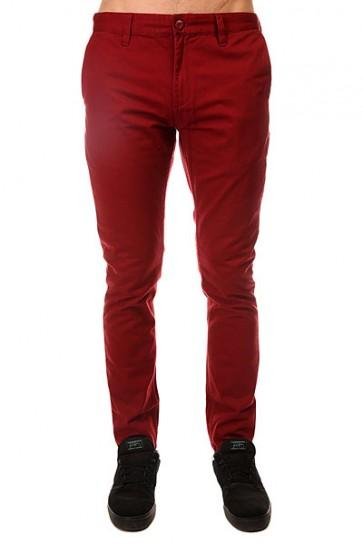 Штаны узкие DC Skinny Slim Ndpt Syrah, 1143139,  DC Shoes, цвет бордовый