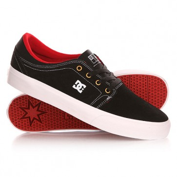 Кеды кроссовки низкие DC Trase S Black/White/True Red, 1143154,  DC Shoes, цвет черный