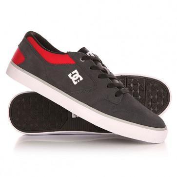 Кеды кроссовки низкие DC Argosy Vulc Grey/Red, 1143157,  DC Shoes, цвет красный, серый