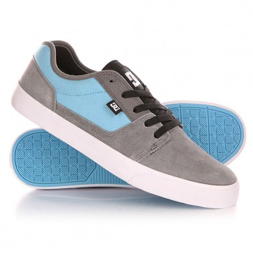 Кеды кроссовки низкие DC Tonik Grey/Carolina Blue, 1143159,  DC Shoes, цвет голубой, серый