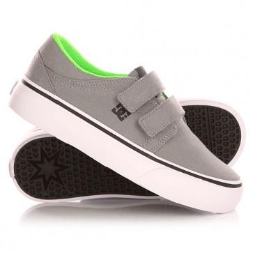 Кеды кроссовки низкие детские DC Trase Grey/Black, 1143261,  DC Shoes, цвет белый, серый
