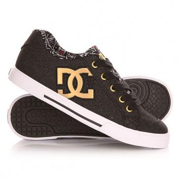 Кеды кроссовки низкие женские DC Chelsea X Tr Black Print, 1143177,  DC Shoes, цвет желтый, черный
