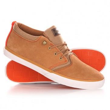 Кеды кроссовки высокие Quiksilver Griffin Fg Brown/Orange, 1139954,  Quiksilver, цвет коричневый