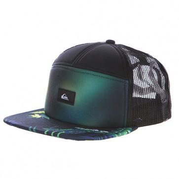 Бейсболка Quiksilver Bankie Hats Black, 1113511,  Quiksilver, цвет зеленый, черный