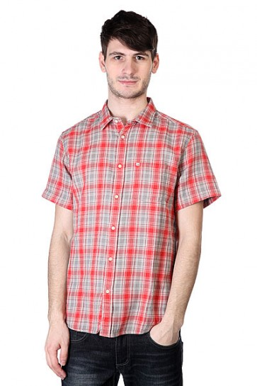 Рубашка в клетку Quiksilver Swiftlet Swiftlet Baked Apple, 1113530,  Quiksilver, цвет красный, серый