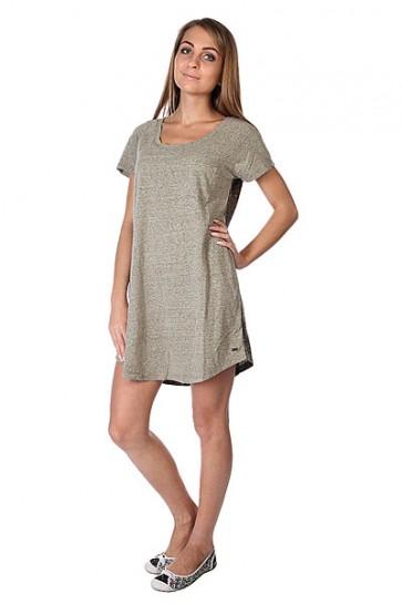 Платье женское Roxy Ben Weston J Military Olive, 1113571,  Roxy, цвет коричневый, серый
