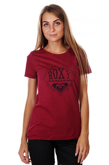 Футболка женская Roxy Basicteed Tees Red Plum, 1125847,  Roxy, цвет фиолетовый