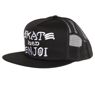 Бейсболка с сеткой Enjoi Skate And Enjoi Trucker Cap Black, 1159062,  Enjoi, цвет черный