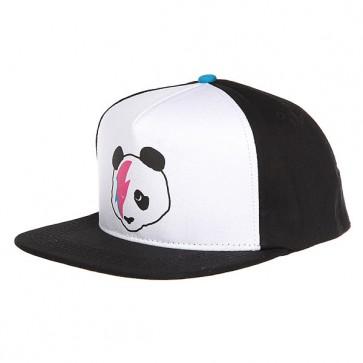 Бейсболка с прямым козырьком Enjoi Stardust Panda Trucker Cap Black/Blue, 1159063,  Enjoi, цвет белый, черный