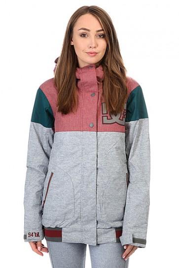 Куртка женская DC Dcla Heather Pewter, 1159179,  DC Shoes, цвет бордовый, зеленый, серый