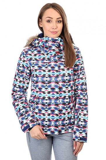 Куртка женская Roxy Jet Ski Geofluo Blue Print, 1159181,  Roxy, цвет мультиколор