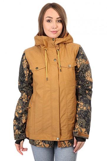 Куртка женская Roxy Ceder Bone Brown, 1159184,  Roxy, цвет зеленый, коричневый, черный
