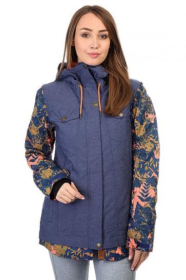 Куртка женская Roxy Ceder Blue Print, 1159185,  Roxy, цвет синий