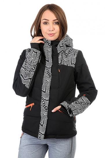 Куртка женская Roxy Flicker Mauritius Daze Egret, 1159188,  Roxy, цвет белый, черный