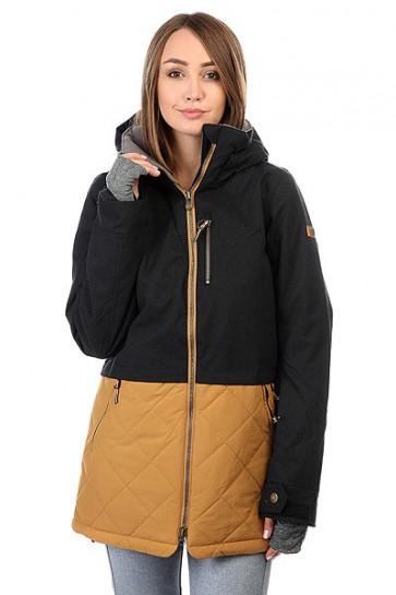 Куртка женская Roxy Hartley True Black, 1159189,  Roxy, цвет коричневый, черный